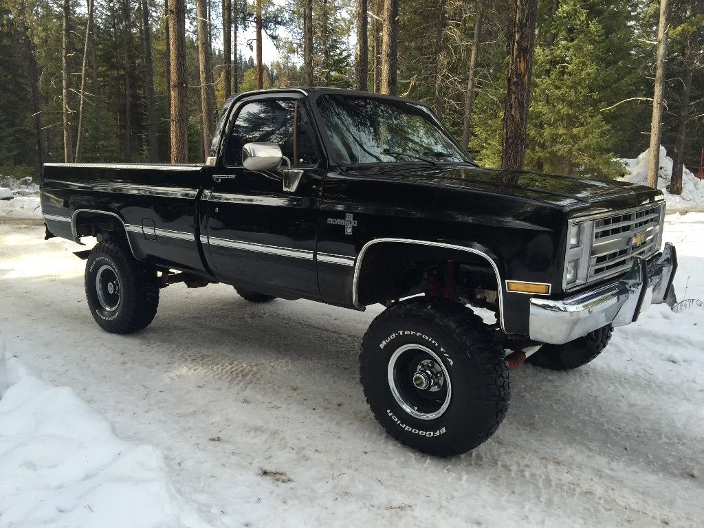 For Sale 1987 Chevrolet Silverado 1500 V10 4 4 Black On Black Lifted