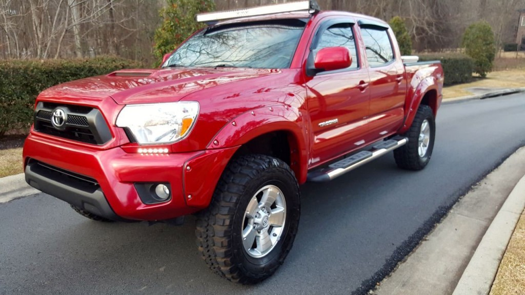 2009 toyota tacoma pre runner trd sport crew cab pickup lifted for sale. Black Bedroom Furniture Sets. Home Design Ideas