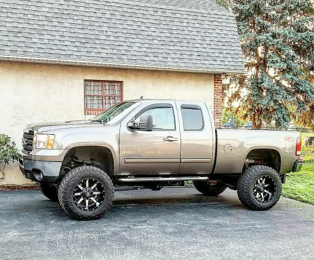 2011 gmc 2500hd duramax 4 4 lifted for sale. Black Bedroom Furniture Sets. Home Design Ideas