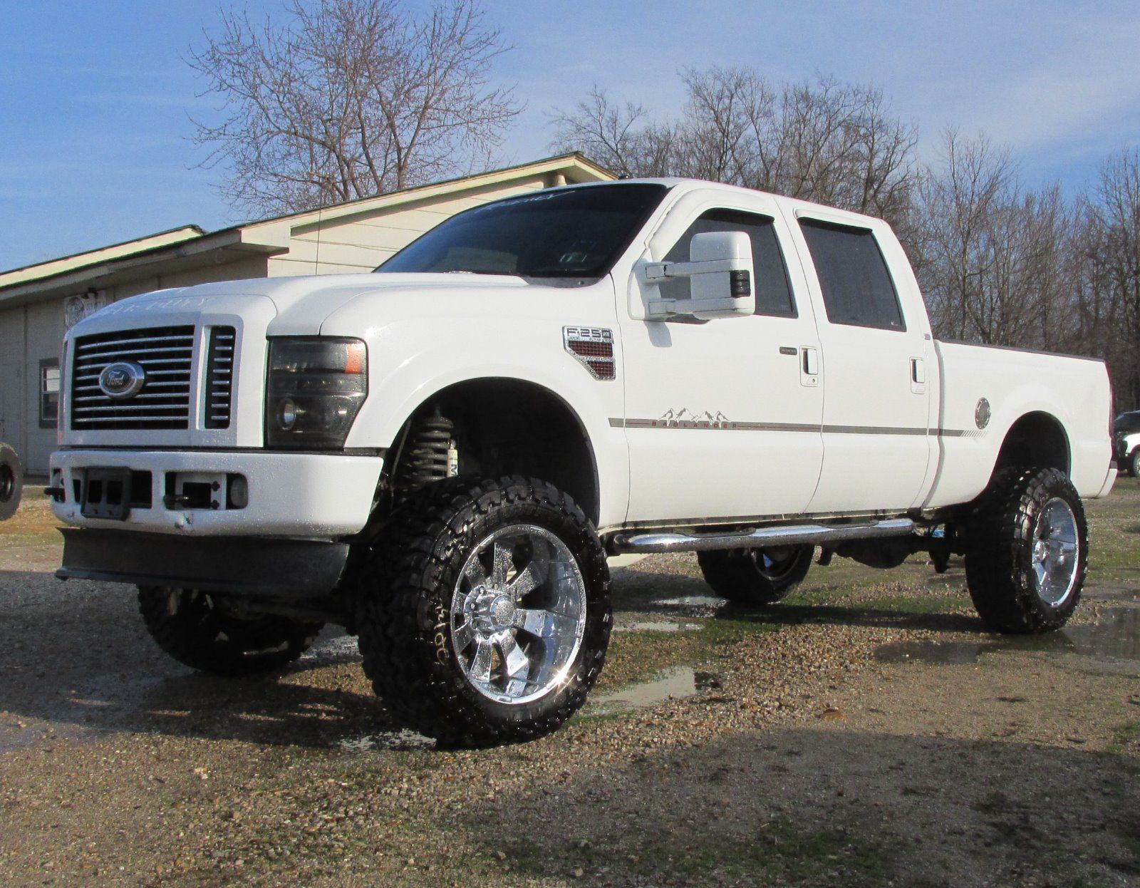 2008 ford f250 super duty 4 4 regency badlander salvage rebuildable lariat for sale. Black Bedroom Furniture Sets. Home Design Ideas