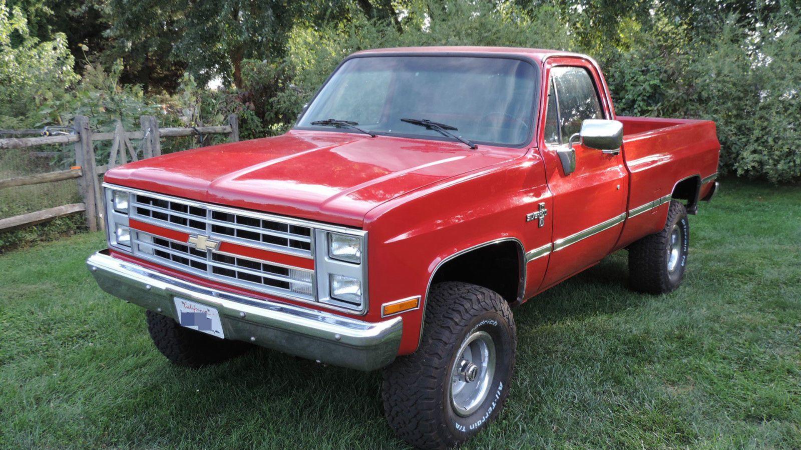 Silverado chevy 1987 silverado : 1987 Chevrolet K10 4×4 Pickup truck for sale