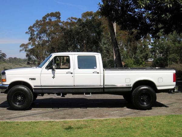 1997 ford f 350 4 4 crew cab pickup 4 door 7 3l diesel powerstroke lifted for sale. Black Bedroom Furniture Sets. Home Design Ideas