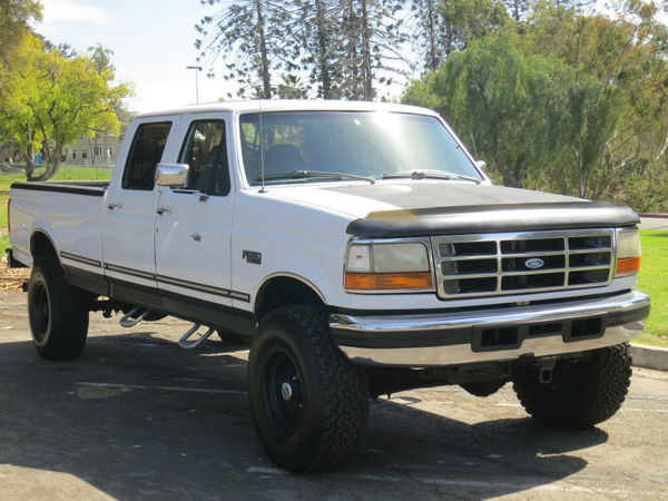 1997 Ford F 350 4×4 Crew Cab Pickup 4 Door 7.3L Diesel Powerstroke Lifted