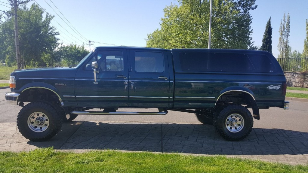 1997 ford f 350 xlt crew cab long bed 7 5l for sale. Black Bedroom Furniture Sets. Home Design Ideas