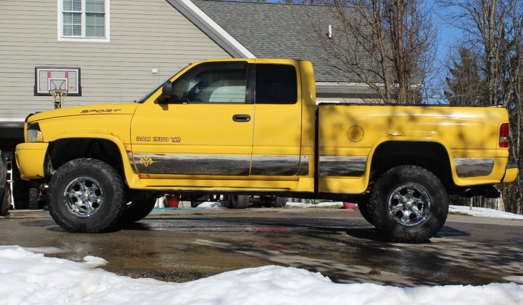 Dodge Ram X Lifted Custom Yellow Extended Cab Truck For Sale X on 1999 Dodge Dakota Lifted