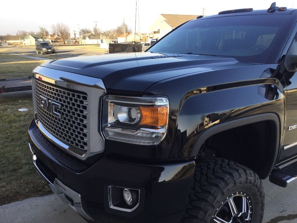 All black 2016 GMC Sierra 3500 Denali Lifted Dually for sale
