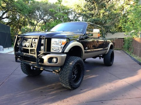 Awesome 2011 Ford F 250 King Ranch Crew Cab lifted for sale