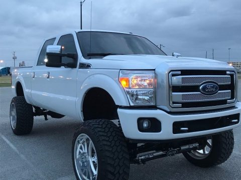 Absolutely flawless 2015 Ford F 250 PLATINUM lifted for sale