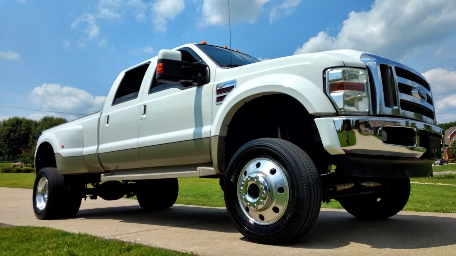 Trucks For Sale: Awesome Looking 2008 Ford F 450 Lariat Lifted Truck For Sale