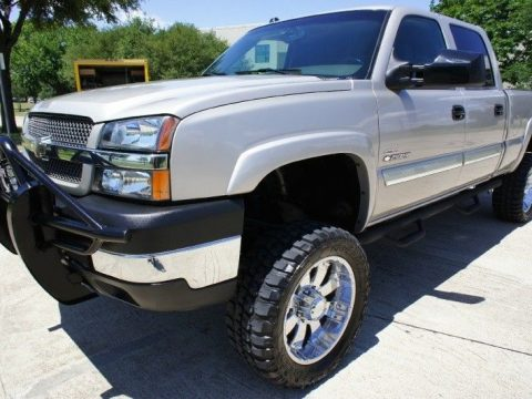 Well equipped 2004 Chevrolet Silverado 2500 Crew Cab lifted truck for sale