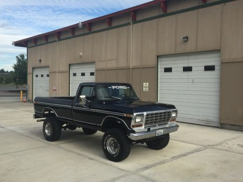 Good old classic 1979 Ford F 250 Ranger XLT lifted for sale