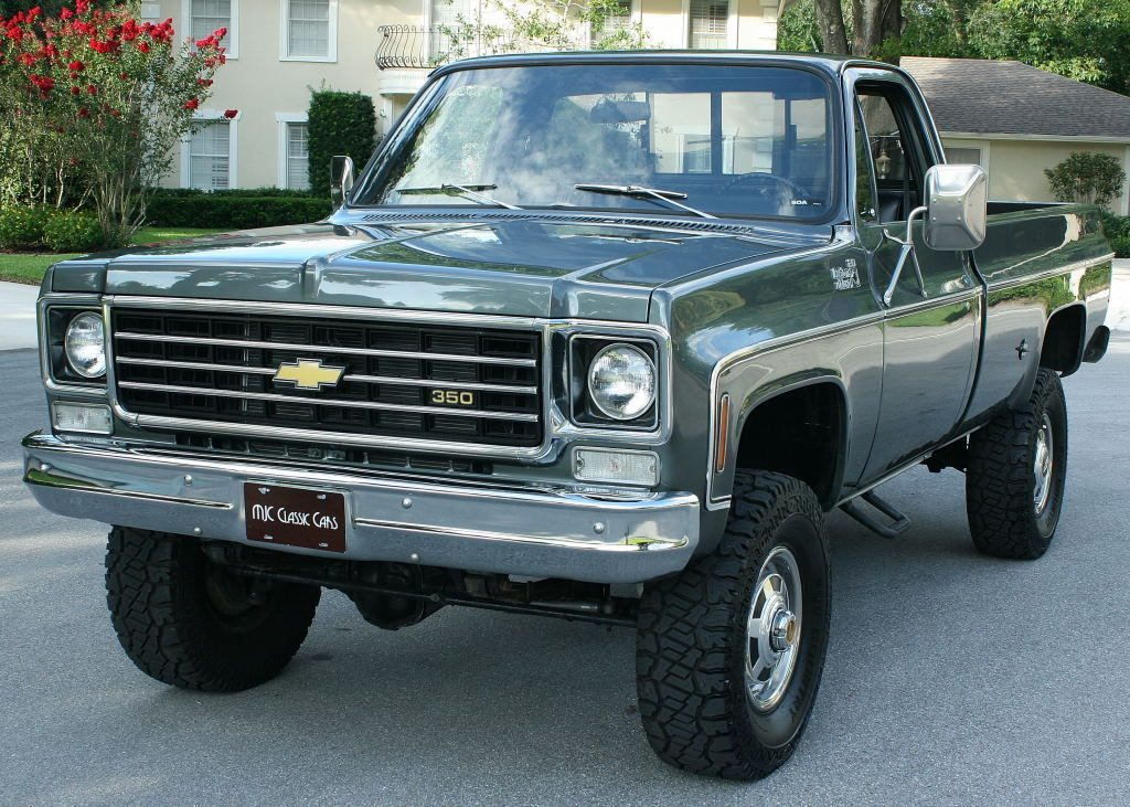 immaculate 1975 chevrolet c k pickup 2500 pickup 4x4 lifted for sale. Black Bedroom Furniture Sets. Home Design Ideas