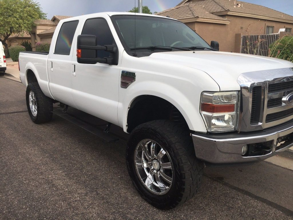 loaded 2008 ford f 250 lariat lifted for sale. Black Bedroom Furniture Sets. Home Design Ideas