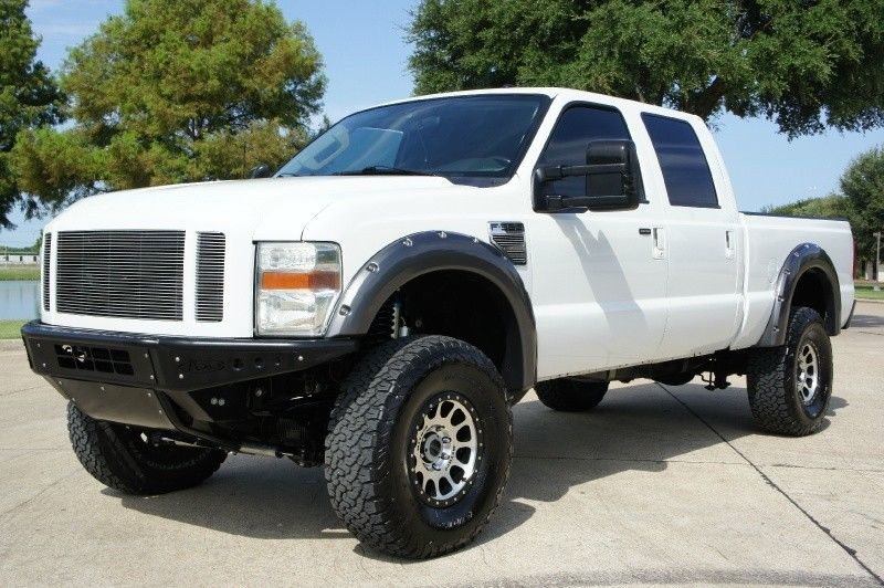 low miles 2008 Ford F-350 4WD Crew Cab XLT lifted for sale
