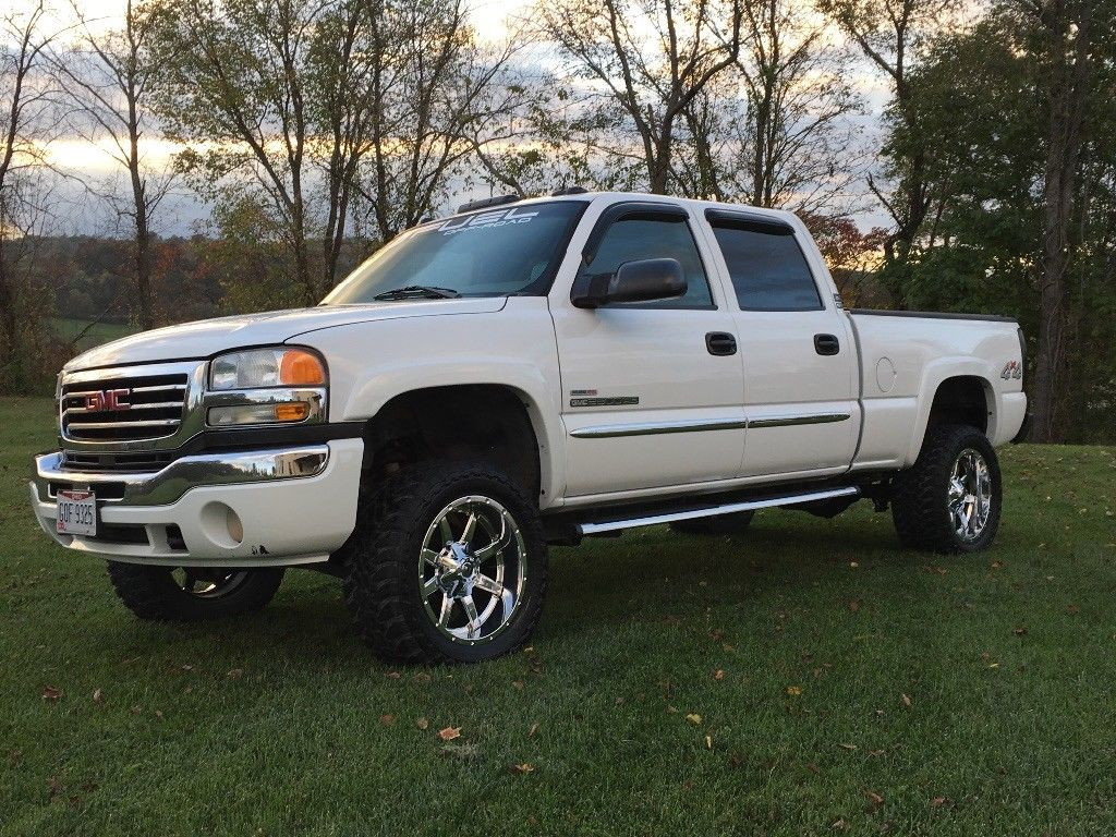 loaded 2005 gmc sierra 2500 slt lifted for sale. Black Bedroom Furniture Sets. Home Design Ideas