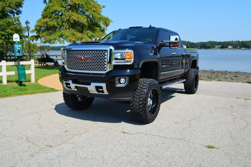 loaded 2017 gmc sierra 2500 denali lifted for sale. Black Bedroom Furniture Sets. Home Design Ideas