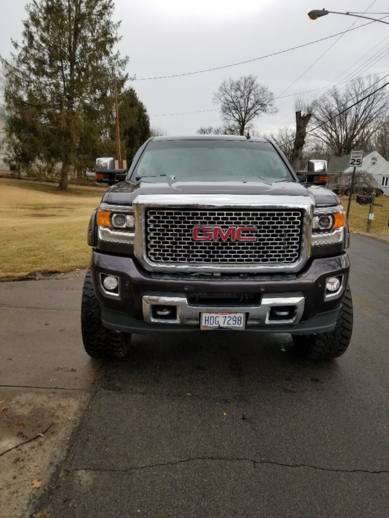fully loaded 2015 GMC Sierra 2500 Denali lifted