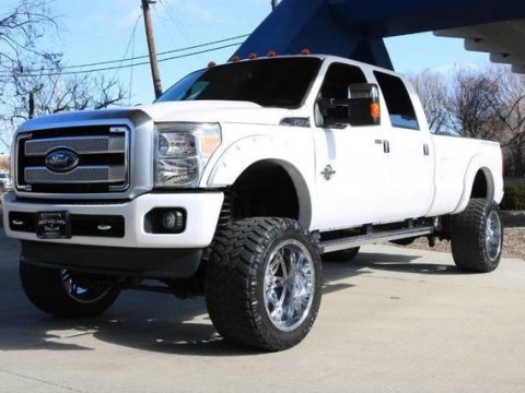 low miles 2016 Ford F 350 Platinum lifted for sale