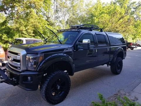 many custom parts 2015 Ford F 250 Platinum lifted for sale
