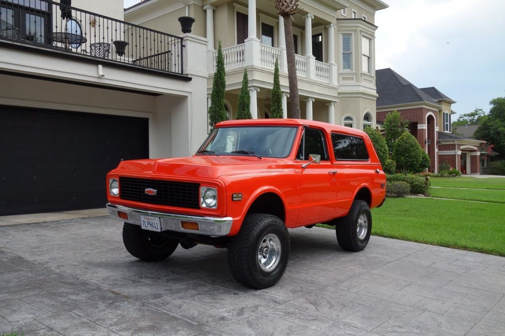 nicely restored 1972 Chevrolet Blazer lifted