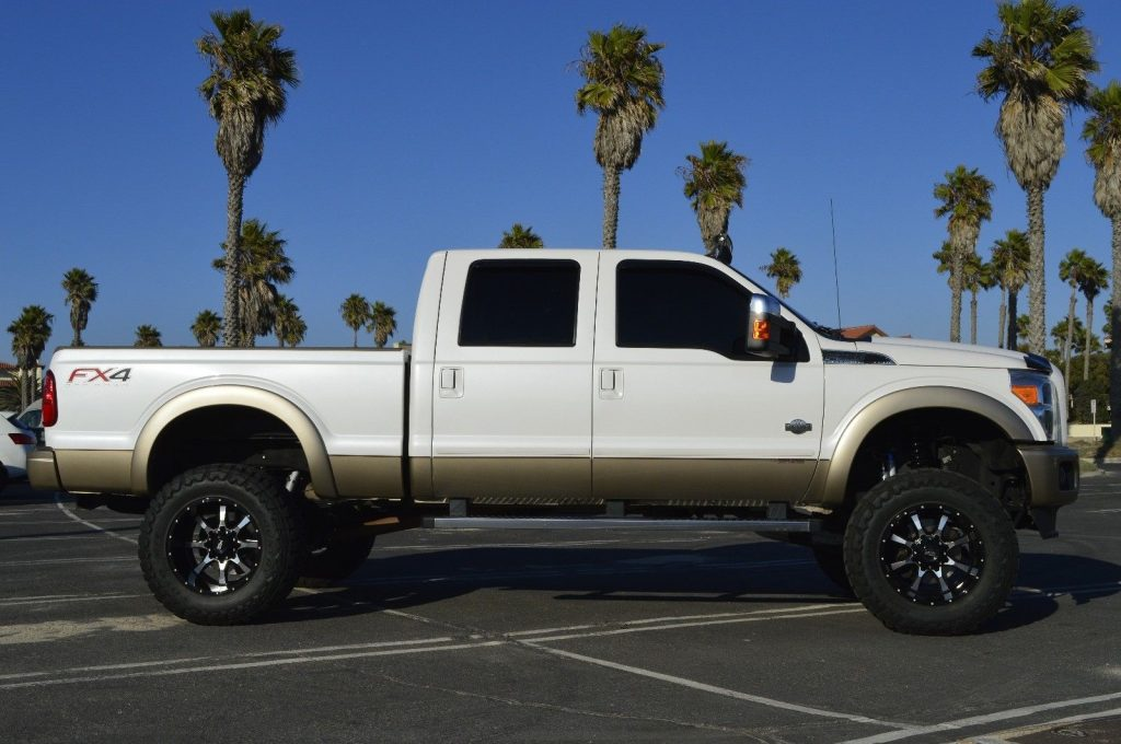 very clean 2013 Ford F 350 King Ranch lifted