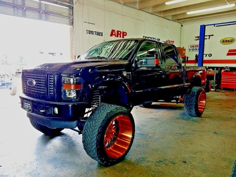 custom wheels 2008 Ford F 350 Harley Davidson lifted for sale