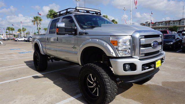 low miles 2016 Ford F 250 PLATINUM lifted for sale