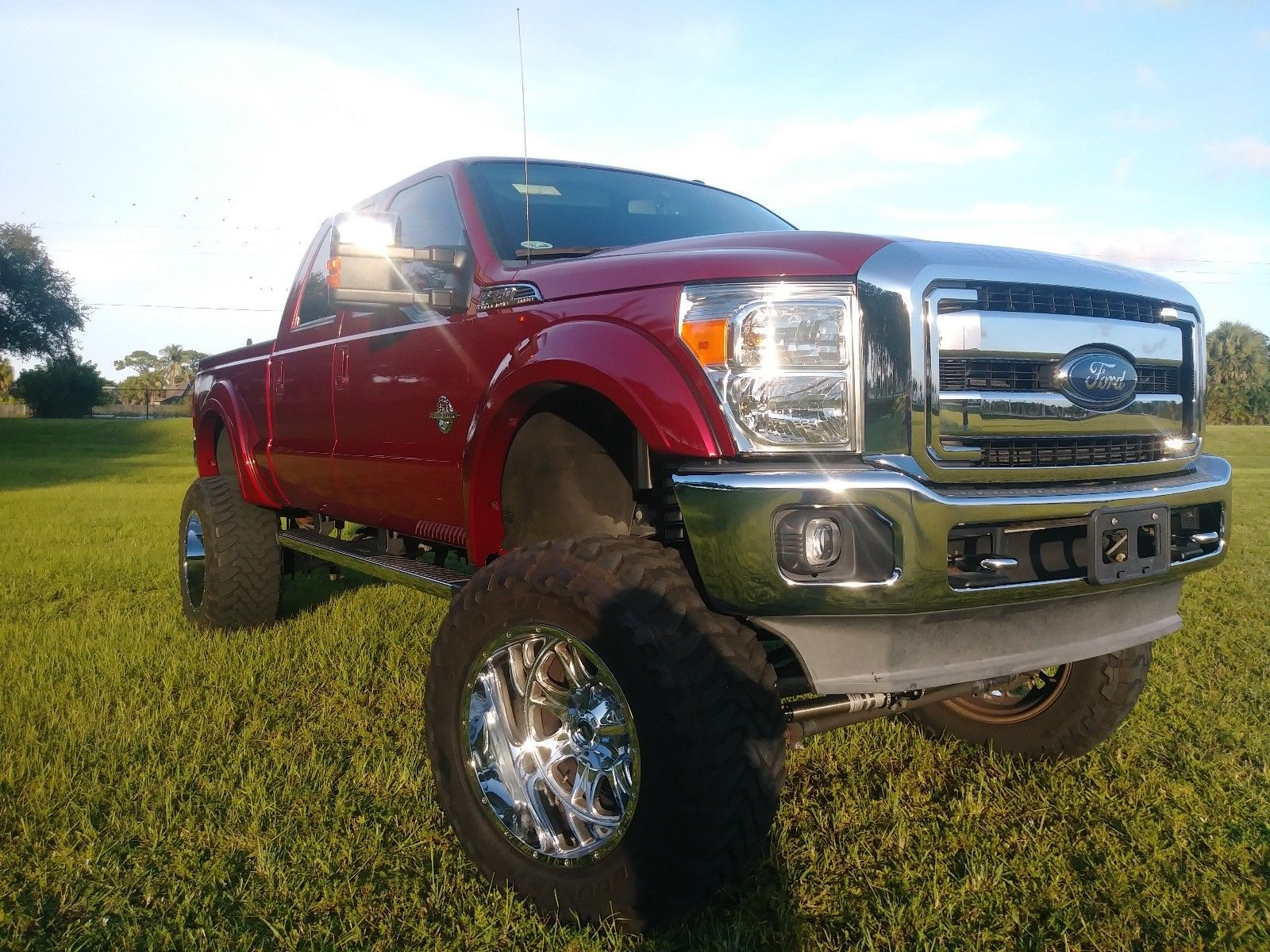high lift 2013 Ford F 350 Lariat lifted for sale