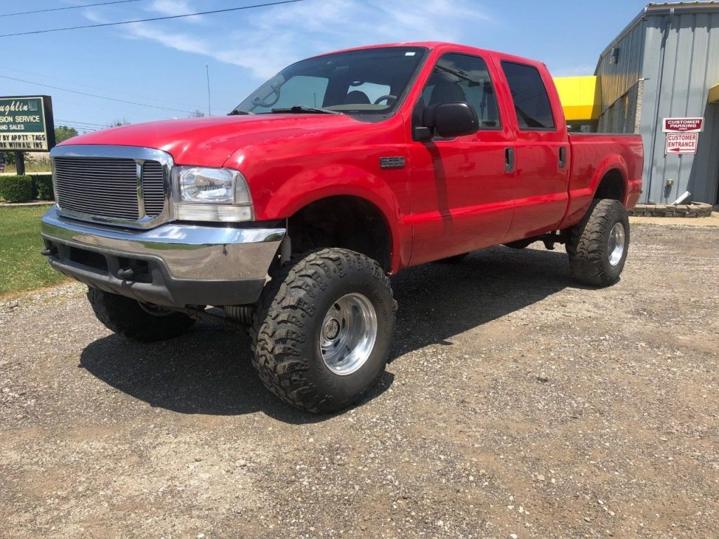 solid 2000 Ford F 250 Lariat pickup lifted