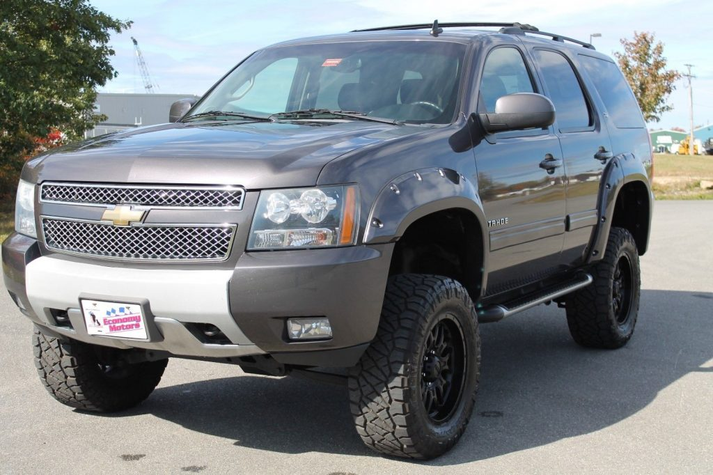 very clean 2011 Chevrolet Tahoe LTZ lifted