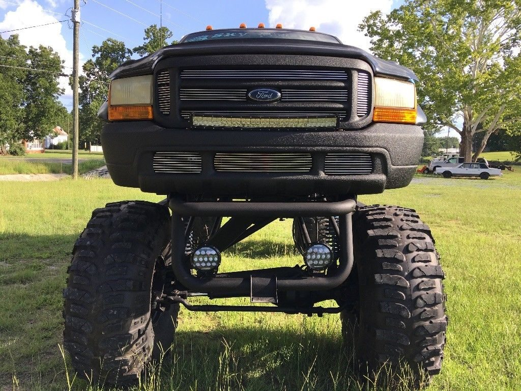 nicely customized 1999 Ford F 250 Diesel lifted truck