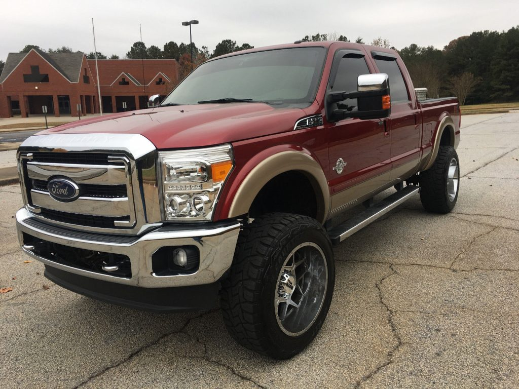 every option available 2014 Ford F 250 Lariat lifted