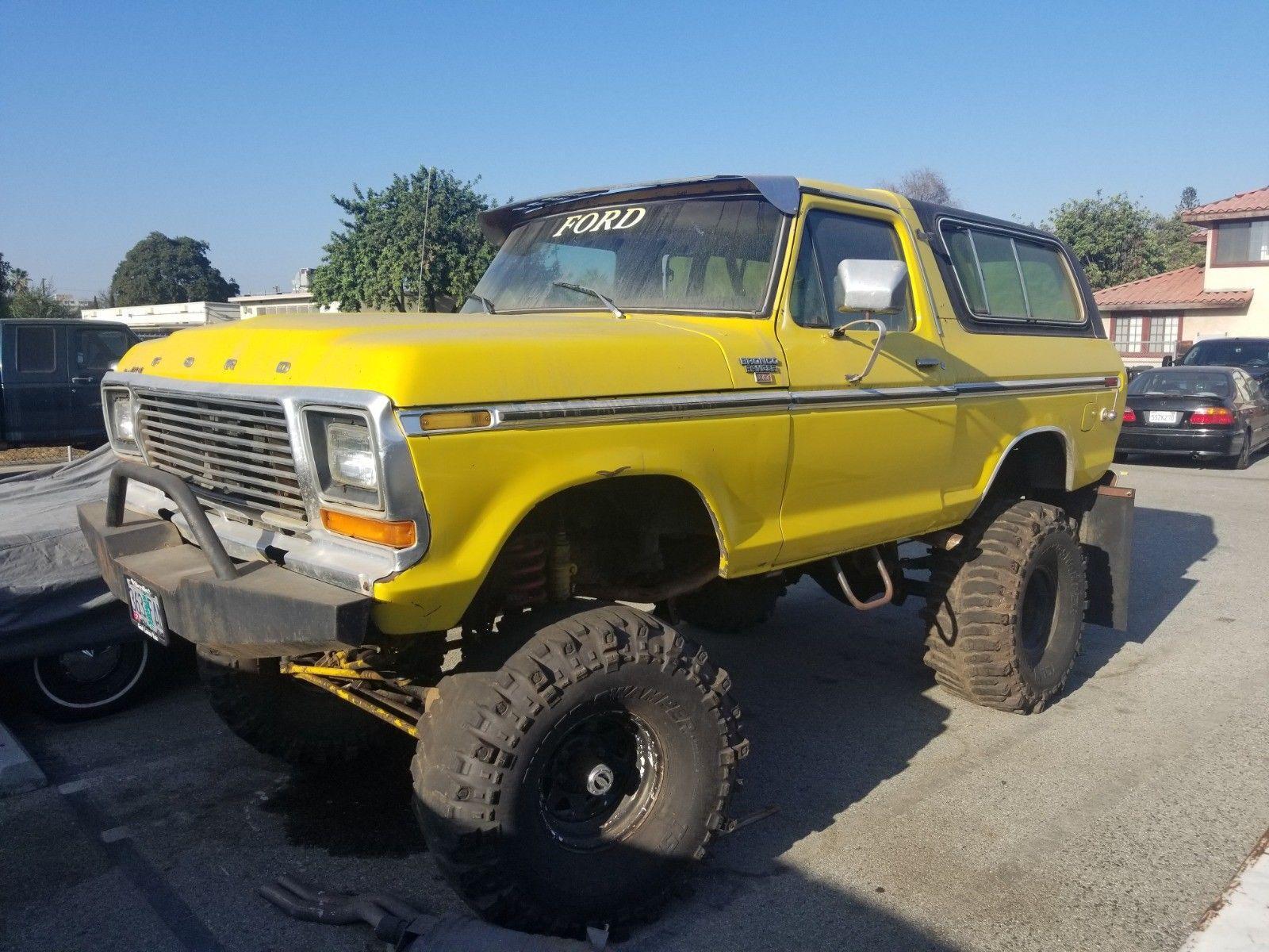 custom monster 1979 Ford Bronco Ranger lifted for sale