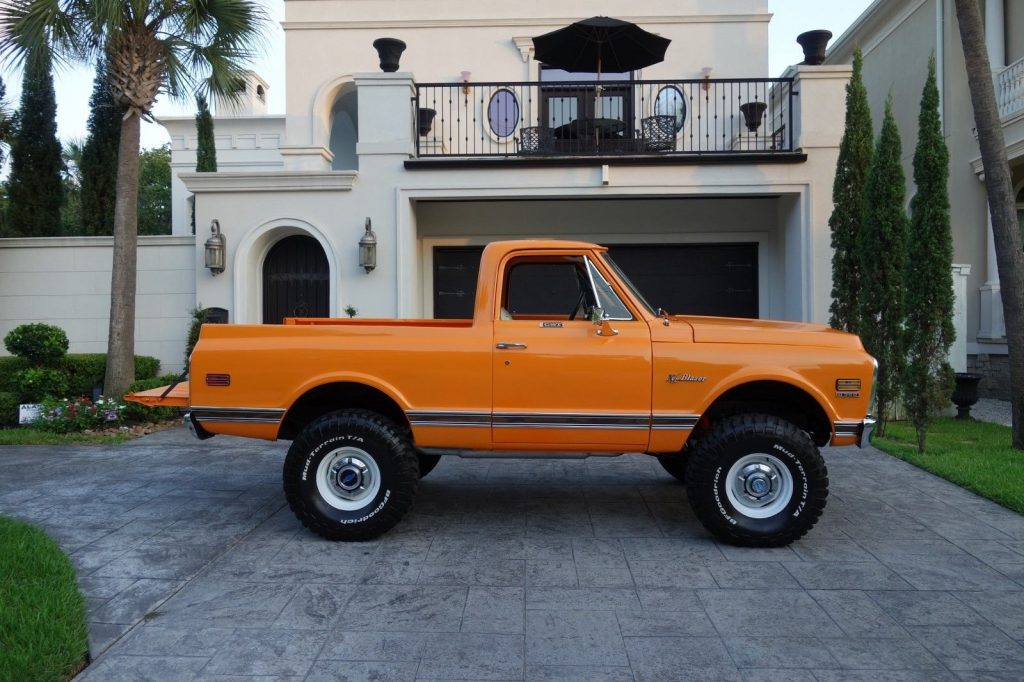 restored 1972 Chevrolet K5 Blazer CST lifted