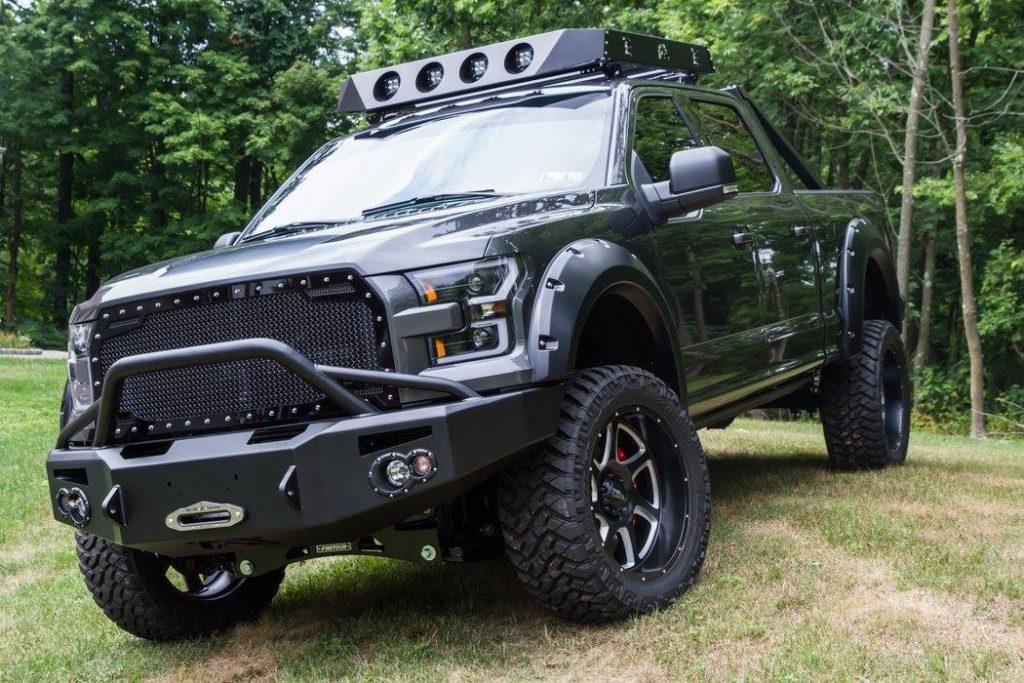 well modified 2016 Ford F 150 Crew Cab lifted