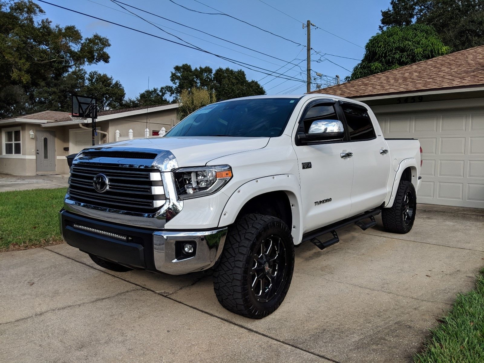low miles 2018 Toyota Tundra Limited lifted for sale