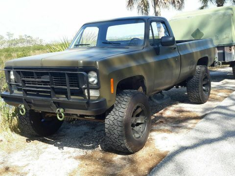 older front clip 1985 Chevrolet M1008 CUCV Longbed Pickup lifted for sale
