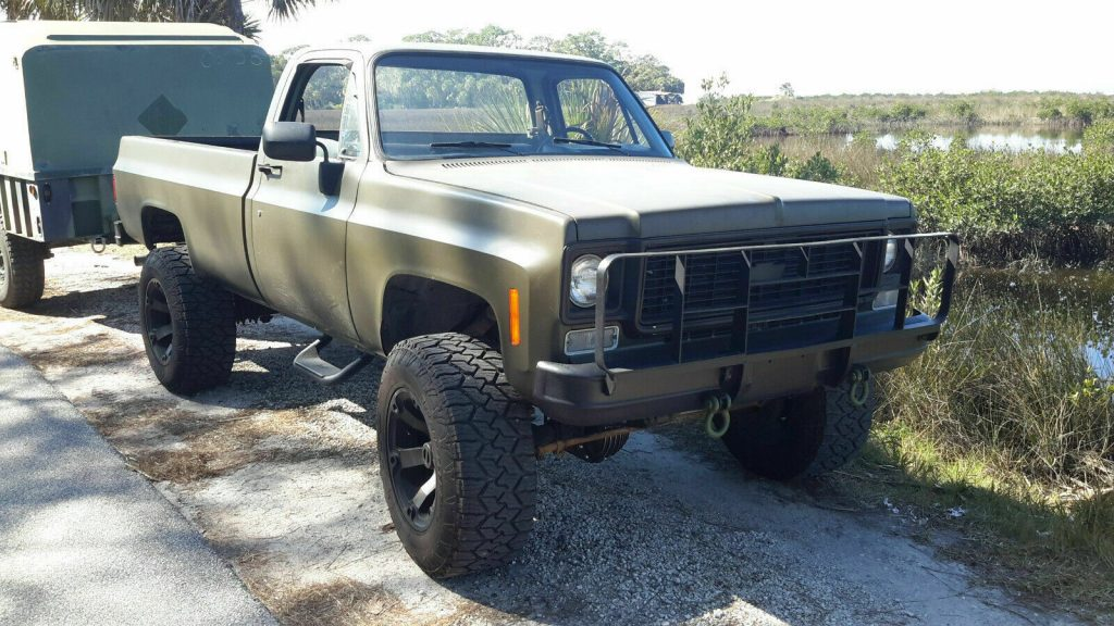 older front clip 1985 Chevrolet M1008 CUCV Longbed Pickup lifted