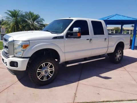 serviced 2014 Ford F 250 Platinum king Ranch Lariat lifted for sale
