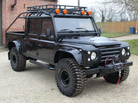 wonderful 1994 Land Rover Defender 130 Spectre 007 lifted for sale