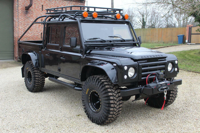 wonderful 1994 Land Rover Defender 130 Spectre 007 lifted
