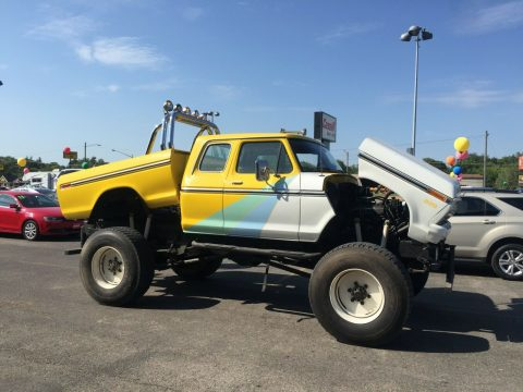 dual engines 1977 Ford F 250 xlt lifted for sale