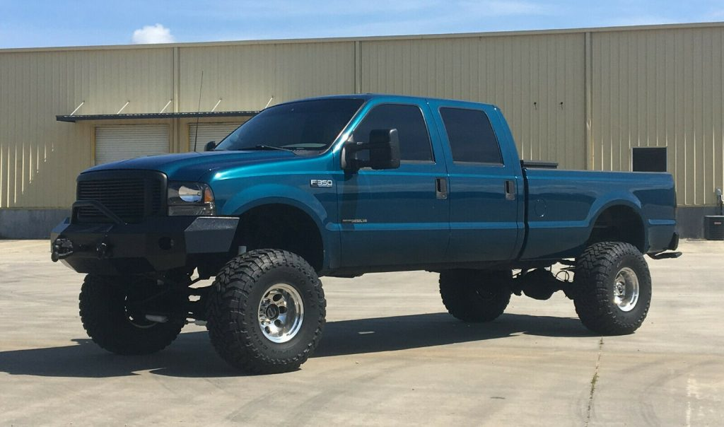 badass 2000 Ford F 350 XLT pickup lifted