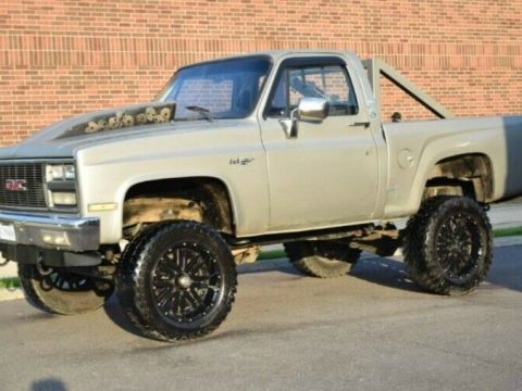 heavily customized 1985 Chevrolet C 10 1/2 Ton Stepside pickup lifted for sale
