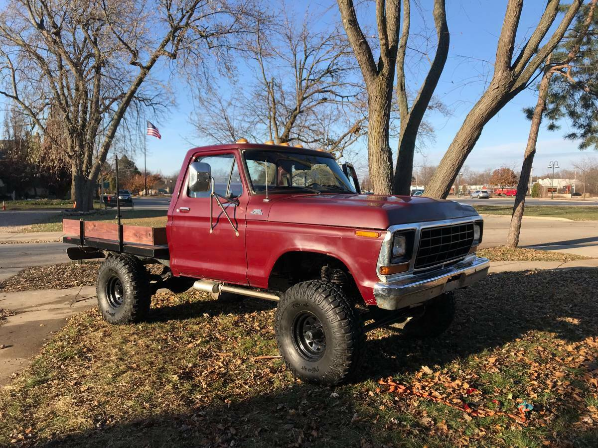 nice and clean 1979 Ford F 150 lifted for sale