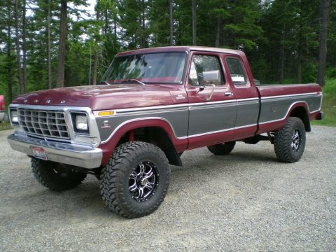 nicely modified 1979 Ford F 250 Custom pickup lifted for sale