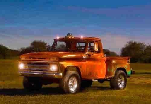 rat rod 1965 Chevrolet Stepside Pickup lifted