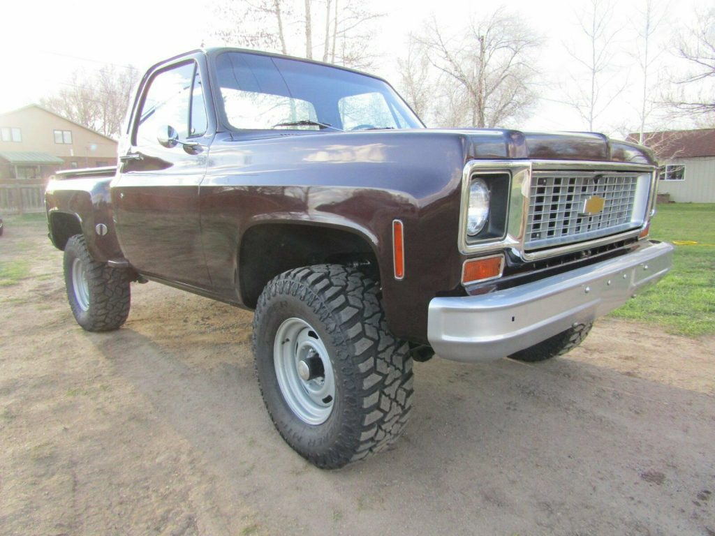 vintage 1974 Chevrolet C 10 pickup lifted