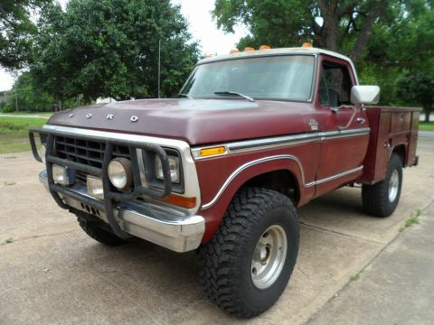 vintage 1979 Ford F 150 Ranger Lariat pickup lifted for sale