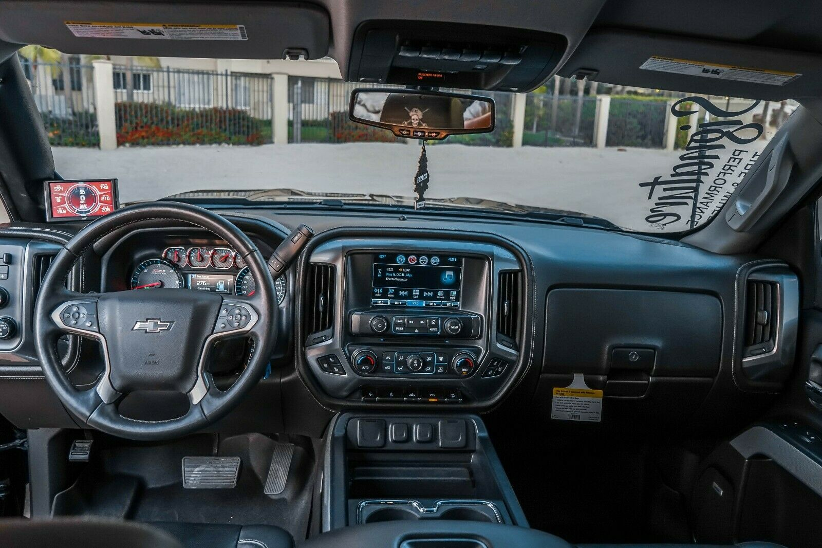 fully loaded 2017 Chevrolet Silverado 1500 LTZ Z71 Midnight Edition 6.2L lifted